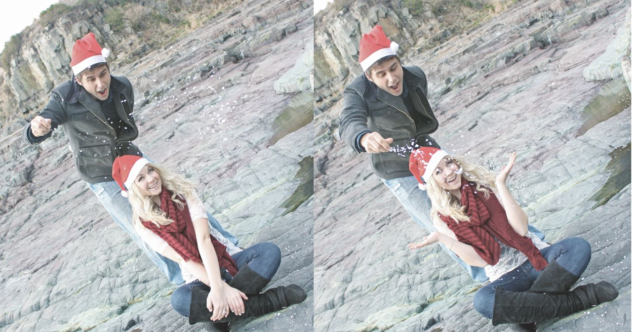 DIY Holiday Photoshoot using a tripod, self timer, and a little ingenuity